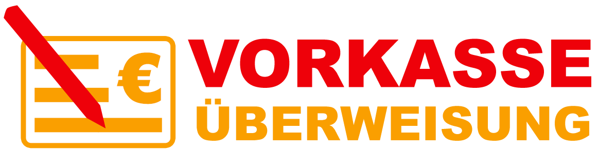 Vorkasse per Bank Überweisung