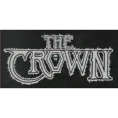 Aufnäher THE CROWN White Logo WOVEN PATCH