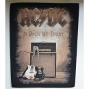 Backpatch AC/DC In Rock We Trust 30 cm x 36,3 cm