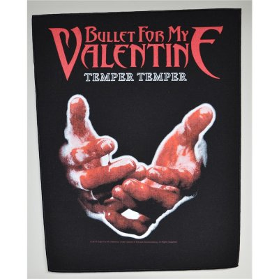 Backpatch BULLET FOR MY VALENTINE Temper Temper 30 cm x 36,3 cm