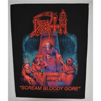 Backpatch DEATH Scream Bloody Gore