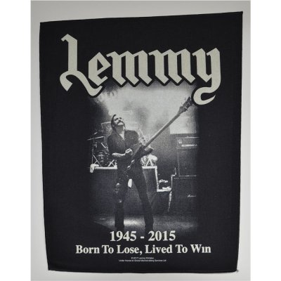 Backpatch LEMMY Lived To Win 30 cm x 36,3 cm