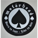 Backpatch MOTORHEAD Born To Lose 28,5 cm