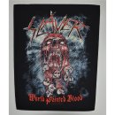Backpatch SLAYER World Painted Blood 30 cm x 36,3 cm