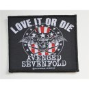 Aufnäher AVENGED SEVENFOLD Love It Or Die
