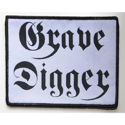 Aufnäher GRAVE DIGGER Black-Logo on White-Patch