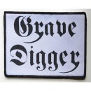 Patch GRAVE DIGGER GH Black-Logo on White-Patch