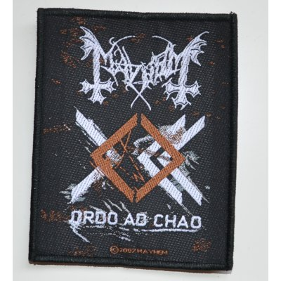 Patch MAYHEM Ordo Ad Chao 7,8 cm x 9,8 cm