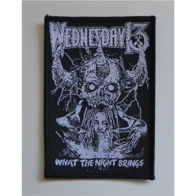 Wolf Aufn/äher REAL METAL Patch gewebt 10 x 10 cm