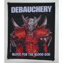 Aufnäher DEBAUCHERY Blood For The Blood God