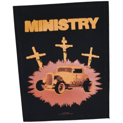Backpatch MINISTRY Jesus Built My Hotrod