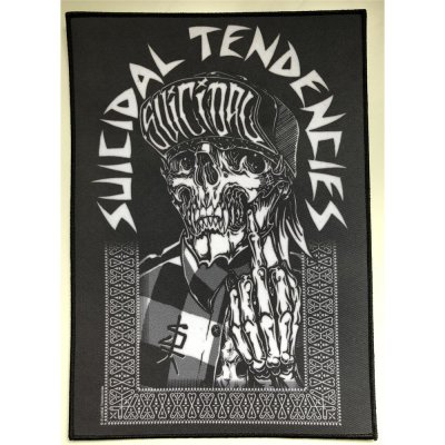 Backpatch SUICIDAL TENDENCIES 1F One Finger - 22 cm x 30,6 cm
