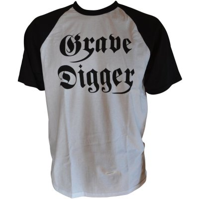T-Shirt GRAVE DIGGER Logo - Fruit Of The Loom Baseball T-Shirt