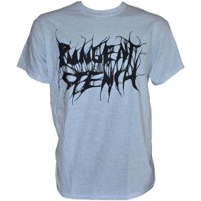 T-Shirt PUNGENT STENCH Black-Logo Grey-Gildan-T-Shirt