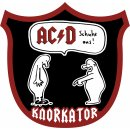 Backpatch Knorkator AC/D Schuhe aus