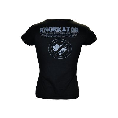 Girly-Shirt Knorkator L.... ist tabu